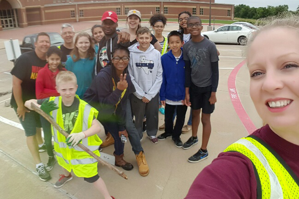 Saturday morning Reagan Knights had an amazing turnout to clean up the campus and Bardin Road as well. Teachers and students