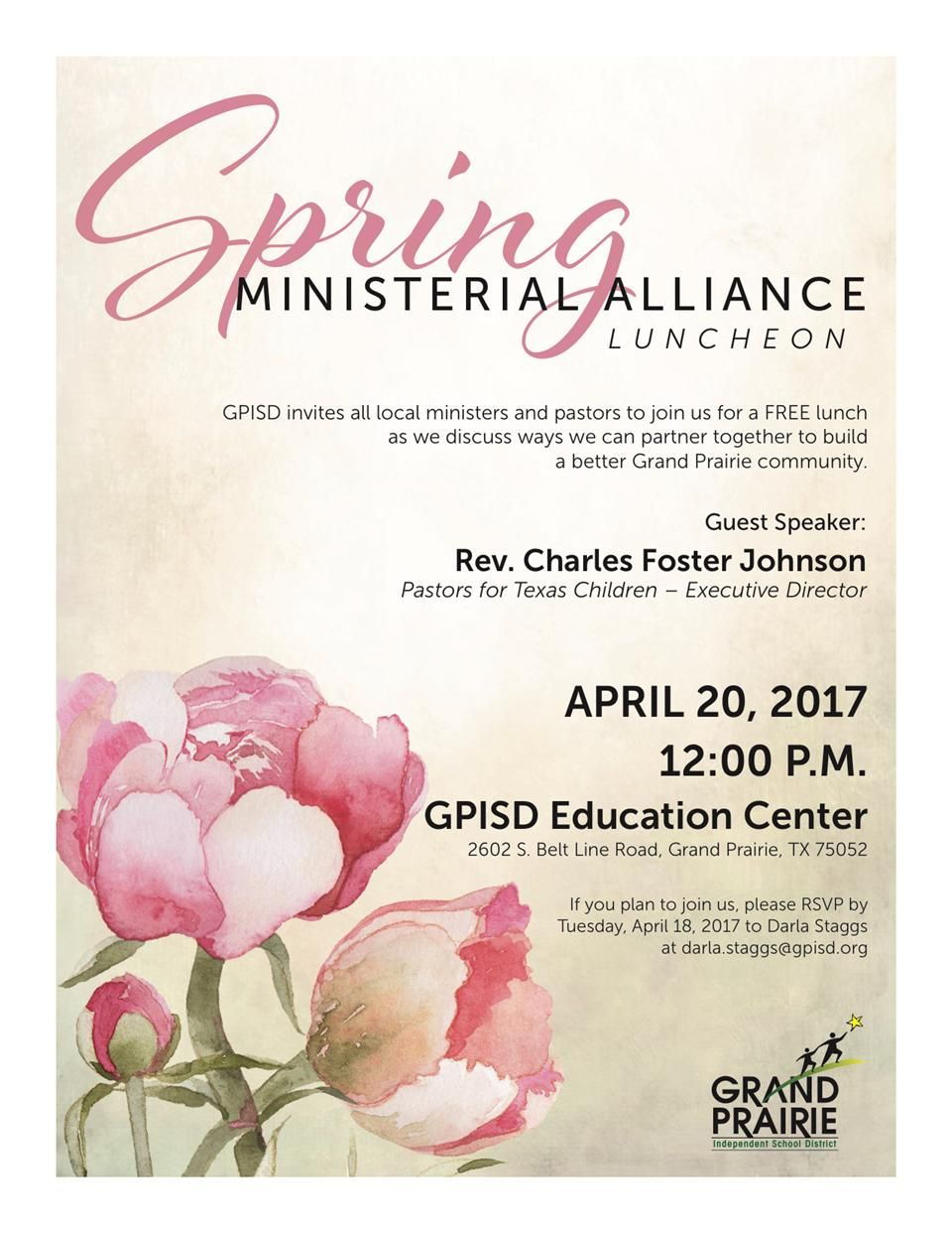 Ministerial Alliance Spring Luncheon - flyer