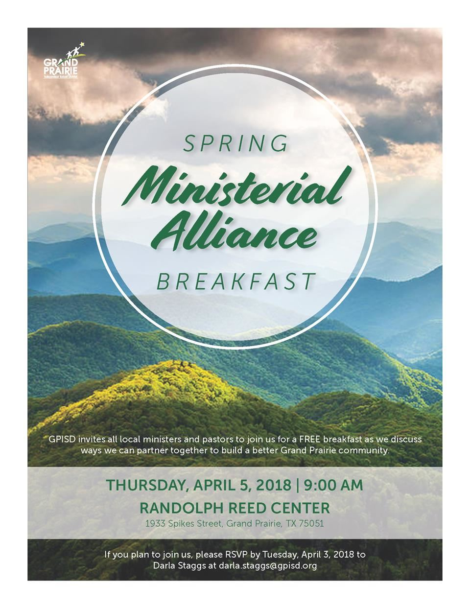 Spring Ministerial Alliance Breakfast