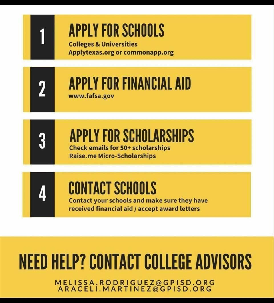 contact college advisors