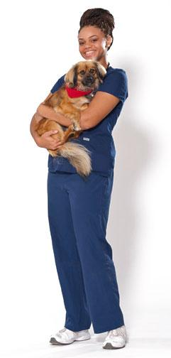 Vet Student with Dog