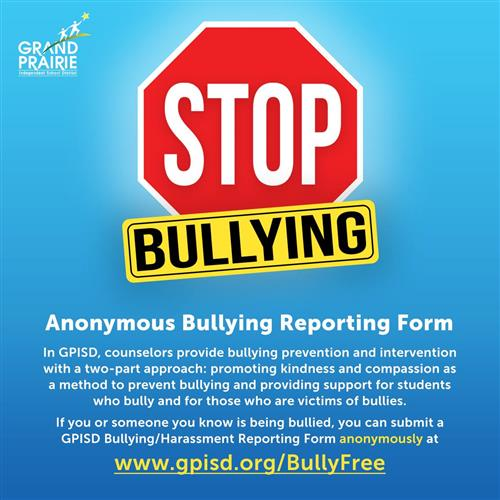 Anonymous online report bullying form
