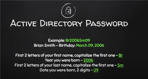 AD Password explanation