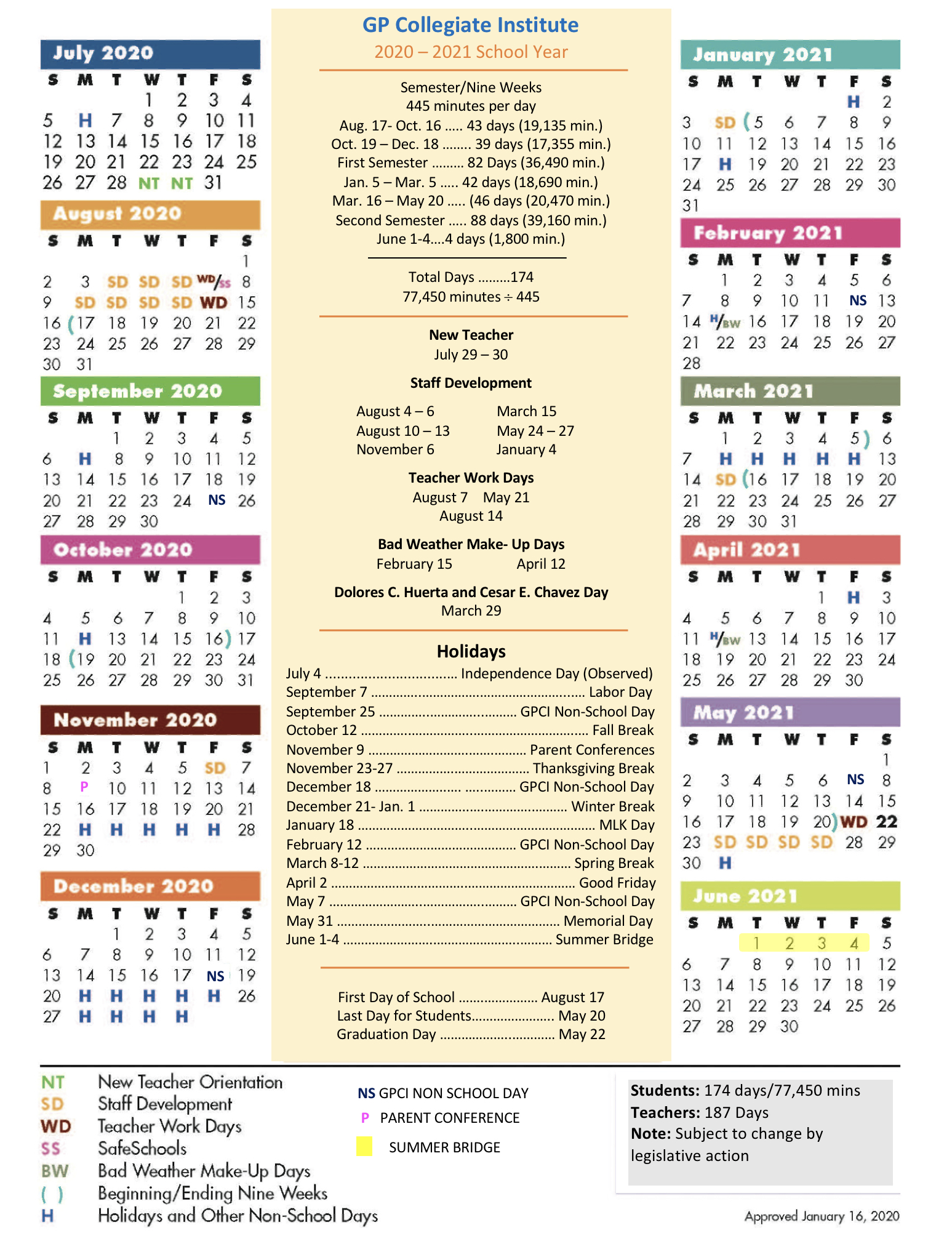 Gpisd Calendar 2021-22
