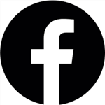 Facebook Icon - Black and White
