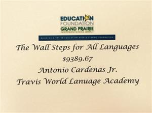 Wall Steps Grant Awarded