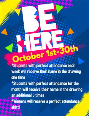 Perfect attendance each week/month earns submissions for the drawing for a shirt.