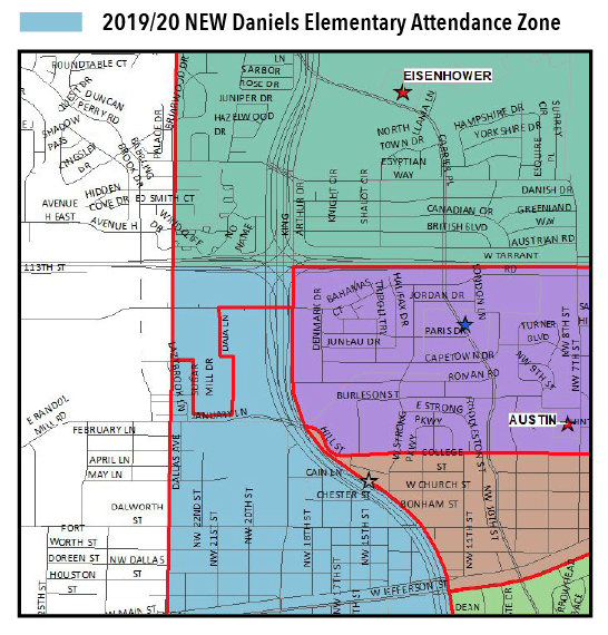 2019/20 NEW Daniels Elementary Attendance Zone Map