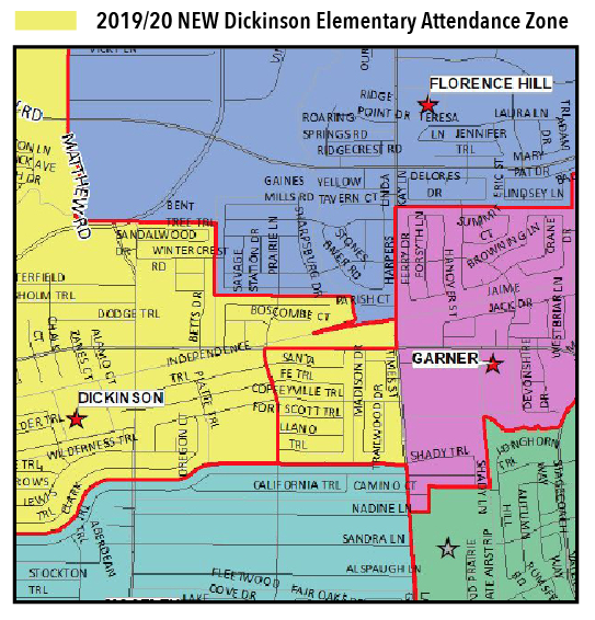 2019/20 NEW Dickinson Elementary Attendance Zone Map