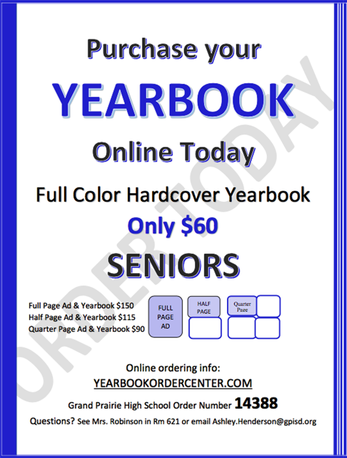 Yearbook information flyer