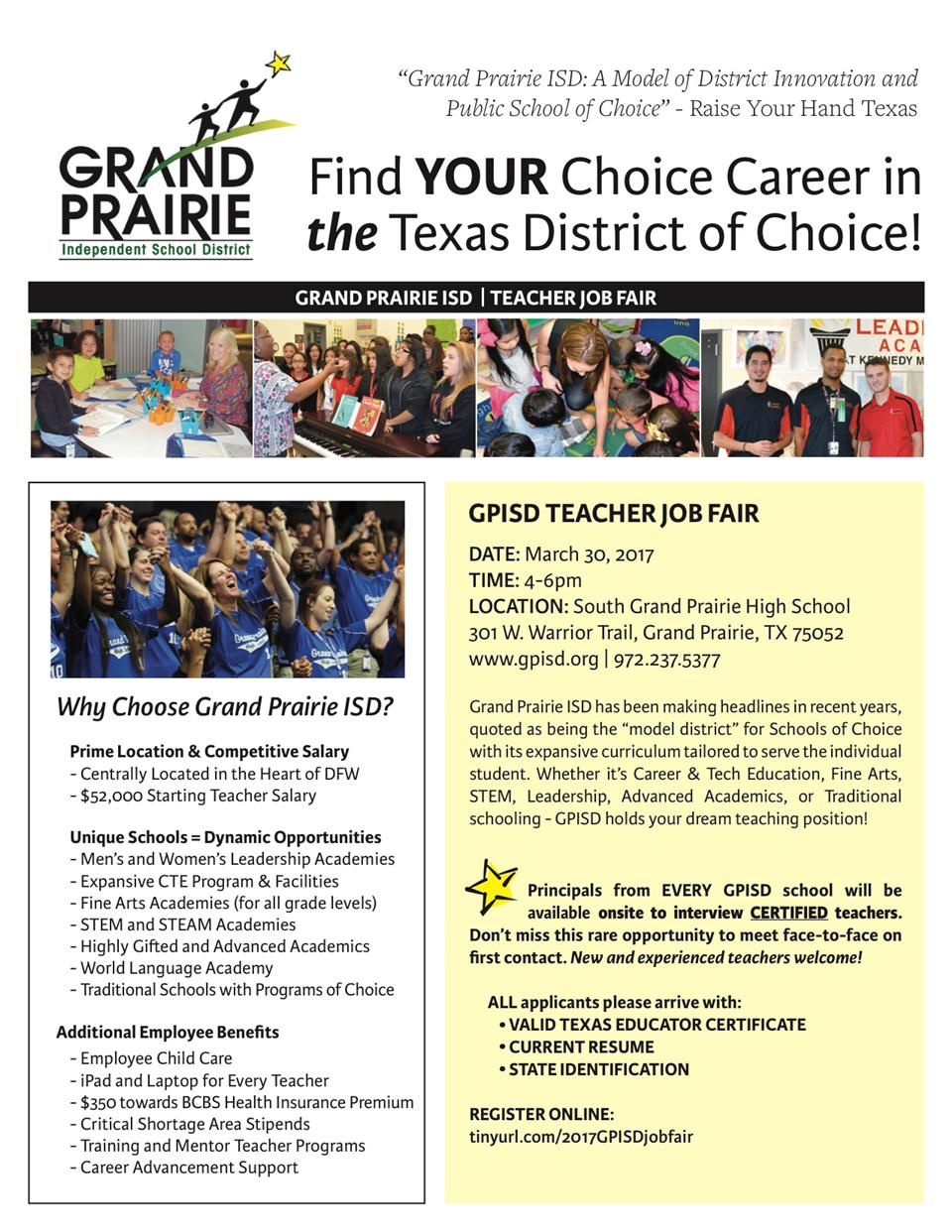 GPISD Job Fair flyer