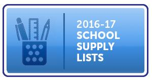 2016-17 School Supply Lists