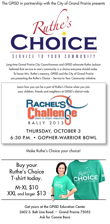 Rachels Challeneg-Ruthe's Choice Flyer